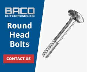 Round Head Bolts Banner 300x250